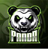 Panda head mascot logo design