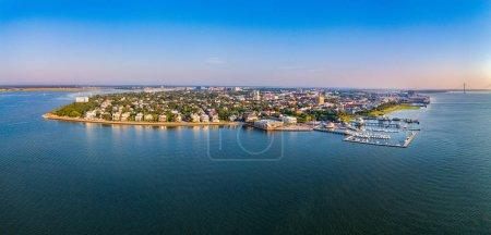 Photo for Charleston, South Carolina, USA Aerial Skyline Panorama. - Royalty Free Image