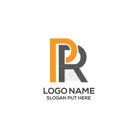 Illustration pour Modèle de conception de logo de lettre de relations publiques créative et moderne pour l'entreprise, l'entreprise ou l'industrie prêt à l'emploi - image libre de droit