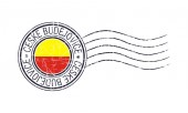 Ceske Budejovice city grunge postal rubber stamp