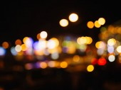 Night city lights bokeh
