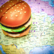 Fast food Usa background...