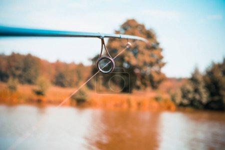 Photo pour L'extrémité de la canne à pêche - image libre de droit