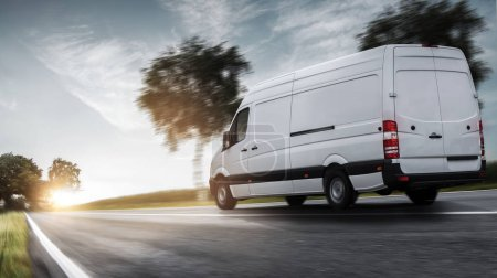 Photo for Van Lieferwagen auf einer Landstrae - Royalty Free Image