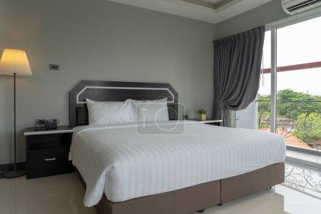 PATTAYA, Thailand - JUNE 9, 2018 : Luxury Interior bedroom at The Tung on June 9, 2018 in pattaya city, Chonburi province, Thailand
