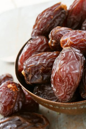 dates prepared dried on the table