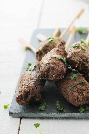 tasty lamb kebab appetizer