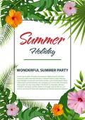 Trendy summer poster design 01