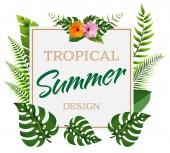 Trendy summer poster design 06