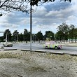 Trabi retro motor cars near German cancellery...