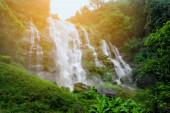 Wachiratarn Waterfall, Chiang Mai, Thailand, a beautiful mountain waterfall landscape