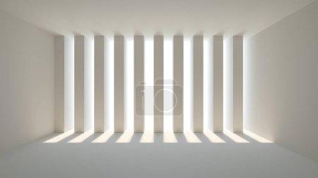 Photo pour Intérieur d'une pièce vide. Bandes de décoration avec éclairage - image libre de droit