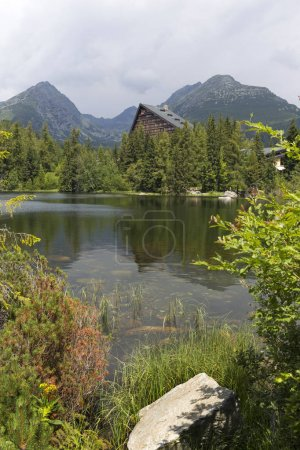 View on mountain Peaks and alpine Landscape of the High Tatras, Slovakia
