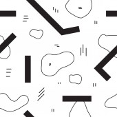 Unique abstract seamless repeating pattern Geometric and hand drawn elements Modern style