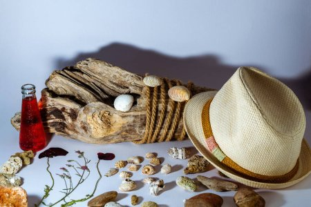 Photo for Summer accessories on the light background - Royalty Free Image
