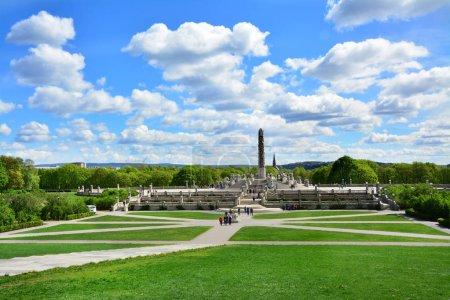 Photo pour Vigeland Park à Oslo, Norvège - image libre de droit