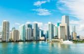 """Постер, картина, фотообои """"Майами, пейзаж с небоскребами в Bayside, центр города"""""""
