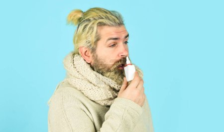 Runny nose and other symptoms of cold. injecting d...