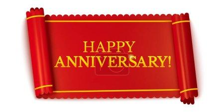 Happy anniversary horizontal banners, realistic re...