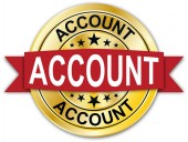 account round golden web coin medal badge