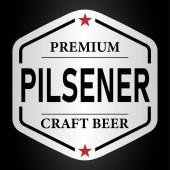premium pilsener craft beer lable web badge icon