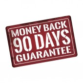 Money back 90 days guarantee Antiques vintage rusty metal sign vector illustration
