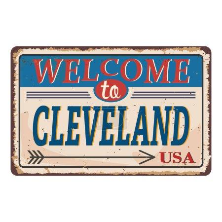 Illustration for Vintage rusty sign background. Vector illustration EPS10 - Royalty Free Image