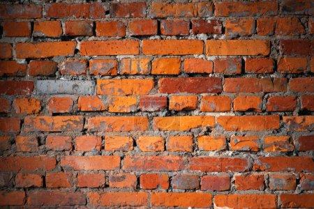 Photo for Orange brick wall, close up - Royalty Free Image