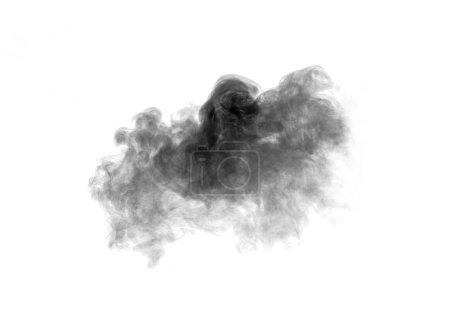 Photo pour Fumée noire sur fond blanc - image libre de droit
