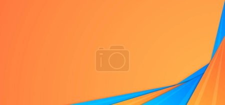 Illustration pour La forme moderne du triangle chevauche la conception de la couche colorée bleu ane orange avec de l'espace pour le contenu. illustration vectorielle. - image libre de droit