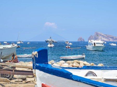 View of Panarea Island, Sicily - Italy...