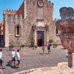 View of the Duomo di Taormina, Sicily, Italy...