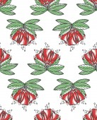 Seamless texture with red flowers Spring background Repeating pattern Can be used as wallpaper desktop wrapping fabric or background for your blog covers cards