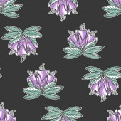 Seamless texture with violet flowers Spring background Repeating pattern Can be used as wallpaper desktop wrapping fabric or background for your blog covers cards