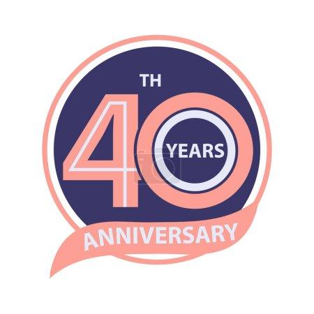 Photo pour 40 e anniversaire signe et logo célébration - image libre de droit