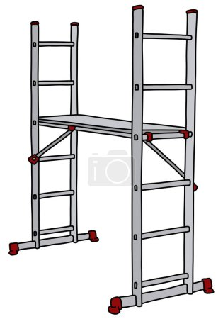 The steel small scaffolding