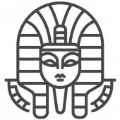 Pharaoh Web icon vector illustration