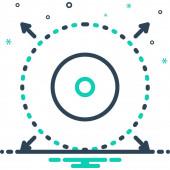 Delimiter Web icon simple design