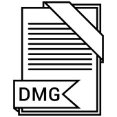 Dmg file Vector illustration