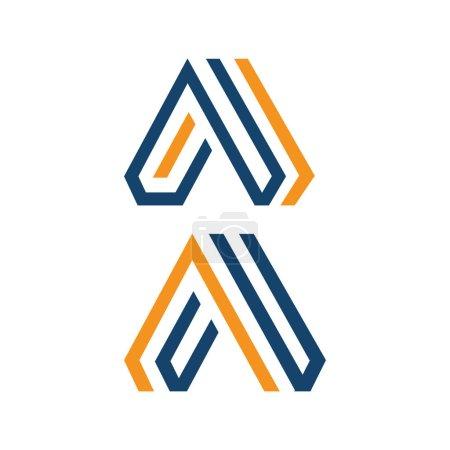 Illustration pour Lettre A Logos un logo triangle moderne inspirations vectorielles - image libre de droit