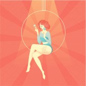 Girl circus actress show cabaret stock illustration