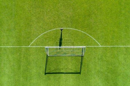 Photo pour Horst, Pays-Bas - 14 JUILLET 2018 : vue aérienne depuis le centre sportif de Horst des Pays-Bas lors de l'entraînement de l'équipe PAOK - image libre de droit