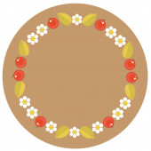 Vector illustration Frame in folk style khokhloma