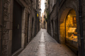 Historic center and Jewish quarter of Girona (Spain), one of the best preserved neighborhoods in Spain and Europe.