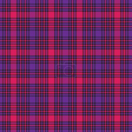 Illustration for Purple Plaid, checkered, tartan seamless pattern suitable for fashion textiles and graphics - Royalty Free Image