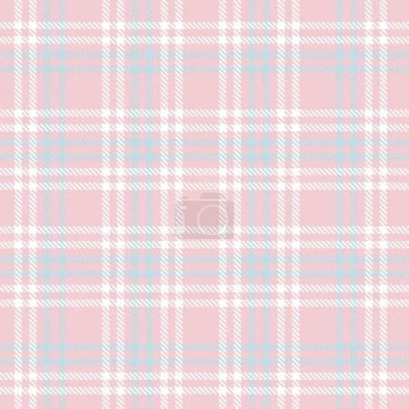 "Illustration for Pink Plaid, checkered, tartan seamless pattern suitable for fashion textiles and graphics"" - Royalty Free Image"