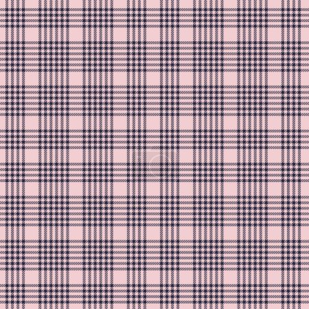 Illustration for Pink and navy Plaid, checkered, tartan seamless pattern suitable for fashion textiles and graphics - Royalty Free Image