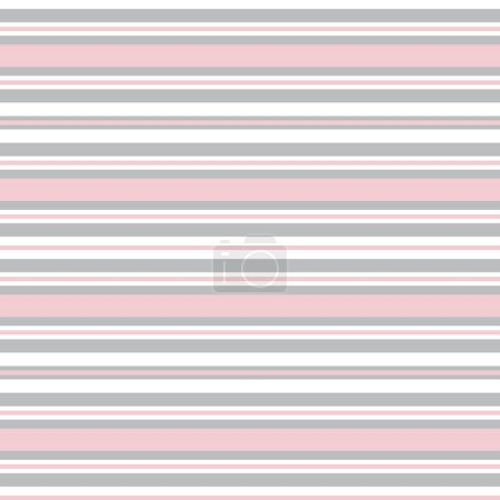 Illustration for Pink Horizontal striped seamless pattern background suitable for fashion textiles, graphics - Royalty Free Image