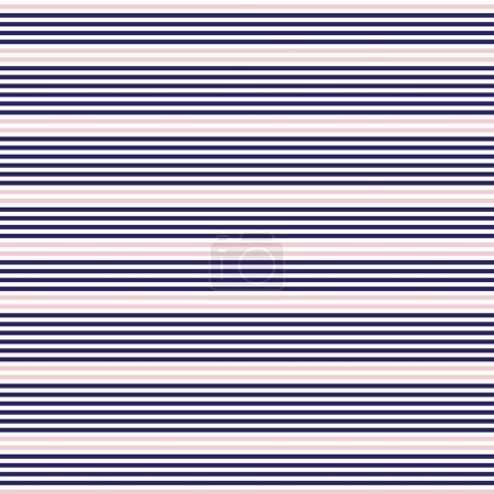 Illustration for Pink and Navy Horizontal striped seamless pattern background suitable for fashion textiles, graphics - Royalty Free Image