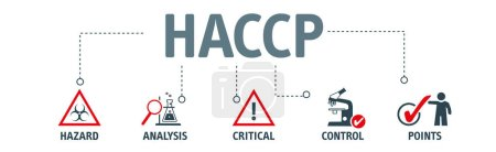 Illustration for HACCP - Hazard Analysis and Critical Control Points acronym, vector illustration concept - Royalty Free Image